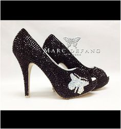 Black Crystal Butterfly by MDNY Heels