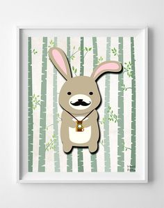 Woodland Rabbit White Background posters by Inkist Prints! This unique nursery decor print will make a great addition to any nursery and kids room. It would also be a great gift for baby shower and birthday. Nursery Artwork, Kids Room Wall Art, Nursery Room Decor, Artwork Prints, Poster Prints, Rabbit Art, Kids Poster, Room Posters, Animal Nursery