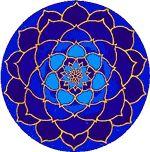 Moonlight Lotus Mandala- love the blues Lotus Mandala, Mandala Art, Mandala Meditation, Art Folder, Blue Lotus, Posca, Mandala Design, Fractal Art, Fabric Painting