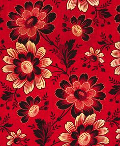 ROLLER-PRINTED COTTON CLOTH (Lining of a woman's ikat robe) Russia, early 20th c. from Susan Meller Russian Textiles.