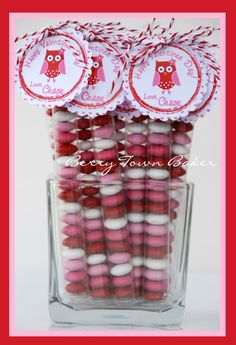 Valentine Treat Favors Candy Stix---want to find these tubes... for all types of gifts/party favors/classroom treats.