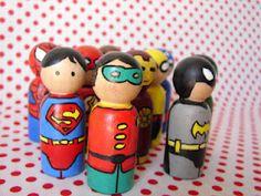Taylor Joelle Designs: Superhero Pegs!