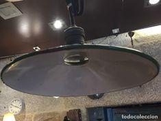 55Vintage: Lámpara metal esmaltado verde - Foto 4 - 117137895