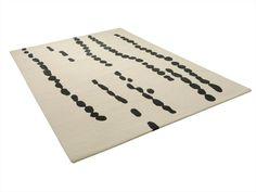 Patterned handmade rug TRACKS by ASPLUND | design Helene Backlund