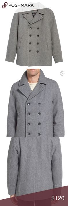 Michael Kors Wool Blend Double Breasted Pea Coat Michael Kors Wool Blend Double Breasted Peacoat XL 60% wool, 30% polyester, 10% rayon A broad collar and crisp tailoring define a classic wool-blend peacoat modernized in a comfortable, masculine profile. Michael Kors Jackets & Coats Pea Coats