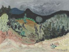 Milton Avery (1885-1965)  Vermont Landscape  signed 'Milton Avery' (lower right)  oil on canvasboard  18 x 24 in. (45.7 x 61 cm.)  Painted circa 1942.
