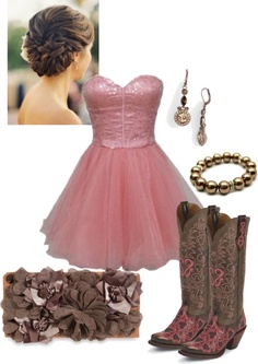 """country girl goes to homecoming"" by tina-harris ❤ liked on Polyvore"