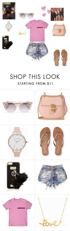 """I Cant See Your Shade Because I Throw It"" by queenraina1 on Polyvore featuring Jimmy Choo, Chloé, Olivia Burton, Aéropostale, River Island and Minnie Grace"