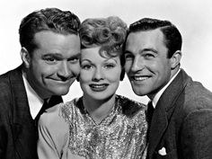 "Lucy with Red Skelton & Gene Kelly Publicity photo for the 1943 film, ""Du Barry Was A Lady"""