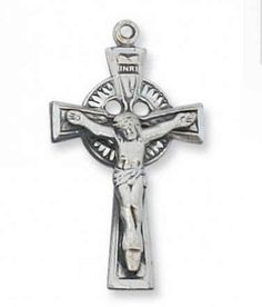 "Sterling Silver Celtic Cross 18"" Rhodium Plated Chain Deluxe Gift BOX Included 1 2/16"" Long Truefaithgifts,http://www.amazon.com/dp/B00BIHDWVI/ref=cm_sw_r_pi_dp_KtcBsb0R67CYHXH3"