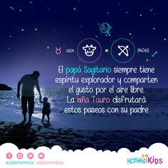 El papá #Sagitario y la hija #Tauro comparten el gusto por el aire libre. #Padres #Hijos #NiñaTauro #PapáSagitario #360KosmoKids #Astrología