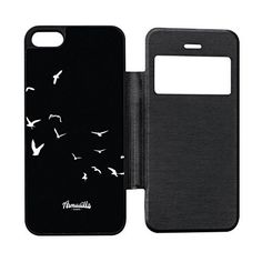 Birds in Flight Black Black Flip Case for iPhone 55s by Gadget Glamour  FREE Crystal Clear Screen Protector ** Check out this great product.