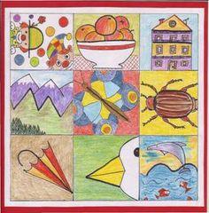 Co vidíš – kresba z představy - děti dostanou kopii s předtištěnými tvary a děti doplní tvar podle vlastní fantazie