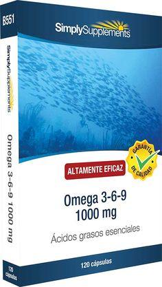 Suplementos de Omega 3-6-9 1000 mg   Combinación de calidad farmacéutica de aceites de pescado, girasol y linaza, que mejora:   La salud del corazón y de la circulación La función cerebral y la visión Equilibrio hormonal La salud de la piel