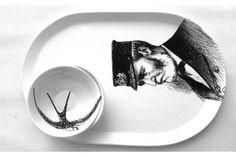 Captain Serving Platter by Studio Number 19 Deco Web, Number 19, Serving Platters, Ceramic Pottery, Porcelain, Clay, Ceramics, Studio, Tableware