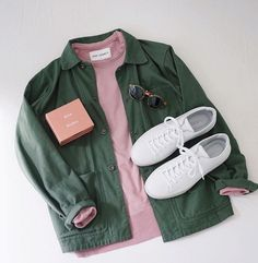 Olive Fatigues w/ Pink