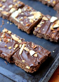 These Cocoa Date Energy Bars are sweetened naturally with dates, require no baking, and are Paleo, vegan, and gluten-free!