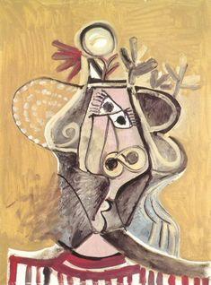 "Pablo Picasso - ""Hat head"", 1971"