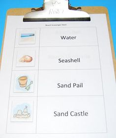 #Beach Scavenger Hunt - Can your #kids find ALL the items at the Beach this summer?