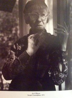 Photograph taken of Imogen Cunningham in San Francisco in 1975 by Jack Welpott. ( she lived in East Bay )