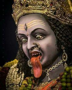 Maa Durga Photo, Maa Durga Image, Maa Kali Images, Durga Images, Mahakal Shiva, Shiva Statue, Kali Hindu, Hindu Art, Kali Mantra