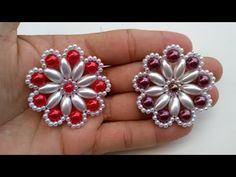 How-to Tutorial: Decorated Slippers - Pearls Weft Drops - Marah Santos Beaded Brooch, Beaded Rings, Jewelry Making Tutorials, Beading Tutorials, Beaded Jewelry Patterns, Beading Patterns, Beaded Flowers, Fabric Flowers, Bead Crafts