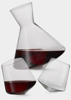 This wobble-y wine carafe and glasses help air the wine: http://www.womenshealthmag.com/life/gifts-for-dad-2013 #FathersDay #gifts