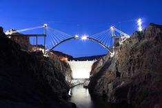 Image result for hoover dam at night