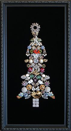 Elegant Traditional Vintage Jewelry Christmas Tree by PipersPieces, $175.00