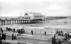 The Pier in Cleethorpes North Lincolnshire England in 1906 Lincolnshire England, Holiday Park, History Photos, Local History, Old Town, Old Photos, Louvre, Memories, Building