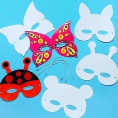 Cardboard Masks To Decorate Design A Mask Pack Of 12Baker Ross Httpwwwamazoncouk