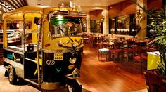 Rickshaw in a restaurant, Feast India i  Leicester