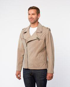Brigradier Asymmetrical Zip Leather Jacket // Dune (S)