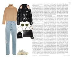 """""""X"""" by masekennb on Polyvore featuring The Kooples, RE/DONE, Balenciaga, Moncler, Isabel Marant, Ray-Ban, Hermès, Vetements and J.Crew"""