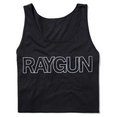 301b0c598906c RAYGUN Text Logo Outline Tank Top Logo Outline