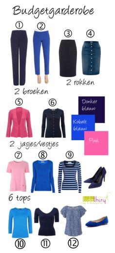 Met deze 12 kledingstukken kun je minimaal 21 combinaties maken. Je ziet er met deze garderobe voor een klein budget 3 weken elke dag anders uit