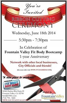 Fit Body Boot Camp, Fountain Valley, One Year Anniversary, First Year, Youre Invited, 3 Weeks, The Good Place, Promotion, Community