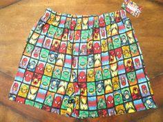NWT Mens MARVEL HEROES COMICS Boxers Lounge Shorts Captain America & Spiderman