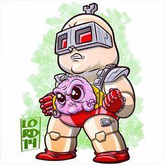 Chibi Krang by lordmesa Ninja Turtles Art, Teenage Mutant Ninja Turtles, Cartoon Drawings, Cute Drawings, Lord Mesa Art, Tmnt Characters, Chibi Marvel, Dibujos Anime Chibi, Character Design