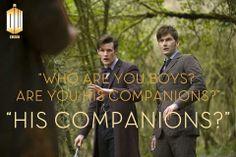 """Are you his companions?"""