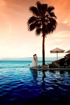 One of our wedding pictures at the Cabo Surf. (sigh)