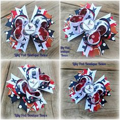 Houston Texans Polka Dot Bottle Cap by LillyPodBoutiqueBows, $7.00