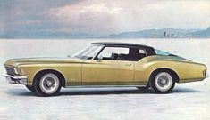 The classic styling of Buick's 1971 Riviera Sports Coupe was exemplified by the bold front end design