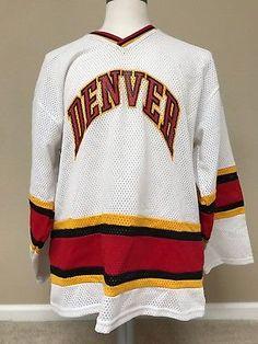 7e7da2981 Vintage Used 1988 DU Denver Pioneers Game Style Hockey Jersey  30 Hockey  Sweater
