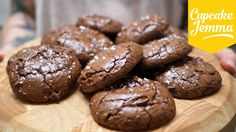 Salted Chocolate Brownie Cookies, that's some serious chocolate | Cupcake Jemma