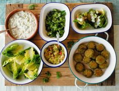 Pistachio and chickpea falafels / Food From Flossie