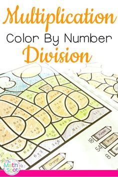 Fall Multiplication and Division Color By Number Worksheets Multiplication And Division Worksheets, Teaching Multiplication, Math Division, Number Worksheets, Division Activities, Fractions, Teaching Textbooks, Math Pages, Thanksgiving Math