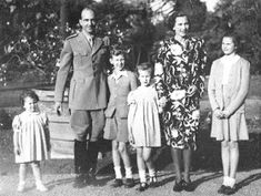 King Umberto II and Queen Maria Jose of Italy with T. Princess Beatrice, Princess Maria Gabriella and Princess Maria Pia of Savoy; and Prince Vittorio Emanuele of Naples Maria Jose, Princess Beatrice, My Princess, Charles Emmanuel, King Of Italy, King Leopold, Her Majesty The Queen, Grand Duke, Queen Of England