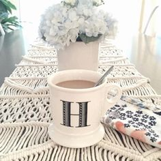 Monogram Mug #Anthropologie #MyAnthroPhoto