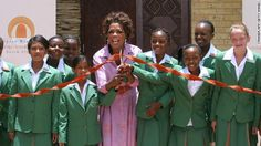 In 2004, Oprah Winfrey documented her travels to South Africa, where she brought attention to young children affected by HIV/AIDS and living in poverty. Her trip brought in $7 million in donations from around the world. Three years later, Winfrey established the Oprah Winfrey Leadership Academy for Girls for students from disadvantaged backgrounds.